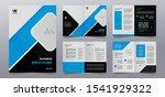 blue business brochure cover... | Shutterstock .eps vector #1541929322
