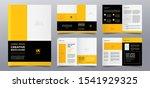 yellow business brochure cover... | Shutterstock .eps vector #1541929325