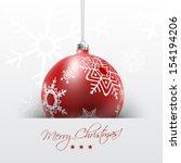 Christmas Card With Red Ball I...