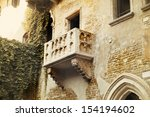 the balcony of romeo and juliet ... | Shutterstock . vector #154194602