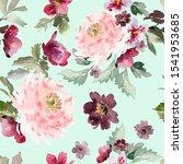 seamless watercolor pattern... | Shutterstock . vector #1541953685