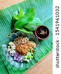 miang kham is a tasty snack of... | Shutterstock . vector #1541961032