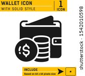 wallet icon with solid style...