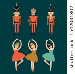 set of nutcrackers and... | Shutterstock .eps vector #1542031802