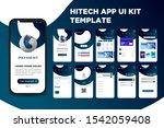 modern hitech app ui kit...