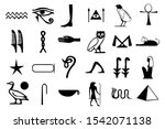 Egyptian Hieroglyphs Isolated...