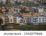 Small photo of Photo Picture Image of colonial modern buildings in La Camella Los Cristianos Tenerife Canary Islands Spain