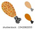 chicken leg composition of...   Shutterstock .eps vector #1542082055