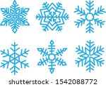 various winter snowflakes... | Shutterstock .eps vector #1542088772