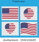 the united states flag vector... | Shutterstock .eps vector #1542132635