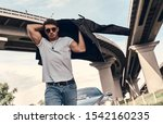 handsome young man in casual... | Shutterstock . vector #1542160235