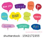 hand drawn set of colorful... | Shutterstock .eps vector #1542172355