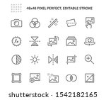 simple set of image editing... | Shutterstock .eps vector #1542182165