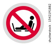 do not put your feet on the... | Shutterstock .eps vector #1542191882