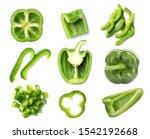 Set Of Cut Fresh Green Bell...