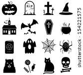 halloween icons | Shutterstock . vector #154221575