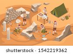 Archeology Isometric Excavation ...