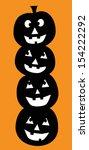 halloween pumpkins | Shutterstock .eps vector #154222292
