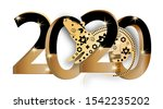 happy new year 2020. year of... | Shutterstock .eps vector #1542235202