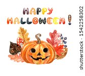 Watercolor Halloween Card Or...