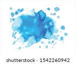 blue water color paint stroke... | Shutterstock .eps vector #1542260942