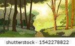 forest. trees and shrubs.... | Shutterstock .eps vector #1542278822