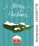 merry christmas greeting card ... | Shutterstock .eps vector #1542307778