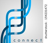 connect   eps10 vector | Shutterstock .eps vector #154231472