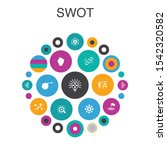 swot infographic circle concept....