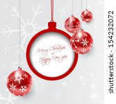 christmas card with red dull... | Shutterstock .eps vector #154232072