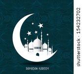 vintage ramadan kareem...   Shutterstock . vector #154232702