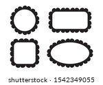 empty blank vintage frame set ... | Shutterstock .eps vector #1542349055