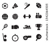 set of sports vector... | Shutterstock .eps vector #1542364505