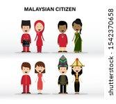 malaysian citizen  malay ... | Shutterstock .eps vector #1542370658