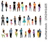 people back. view of people and ... | Shutterstock .eps vector #1542441605