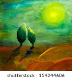 painting for love and hope... | Shutterstock . vector #154244606
