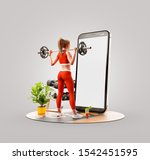 unusual 3d illustration of a...