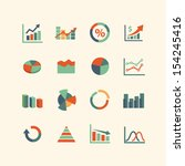 graph icon set | Shutterstock .eps vector #154245416