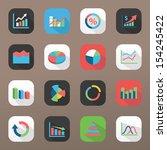 graph icon set | Shutterstock .eps vector #154245422