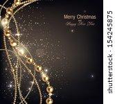 elegant christmas background... | Shutterstock .eps vector #154245875