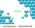 Cube Geometry Abstract Vector...