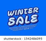 vector creative logo winter... | Shutterstock .eps vector #1542486095