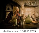 Woman In Medieval Outfit...
