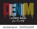 denim typography for print t...   Shutterstock .eps vector #1542516335