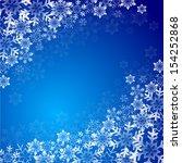 christmas snow background | Shutterstock .eps vector #154252868