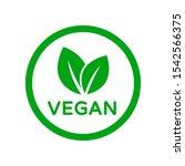 vegan food diet icon. organic ... | Shutterstock .eps vector #1542566375