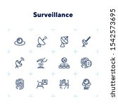 surveillance line icon set.... | Shutterstock .eps vector #1542573695