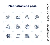 meditation and yoga line icon... | Shutterstock .eps vector #1542577925