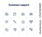 customer support line icon set. ... | Shutterstock .eps vector #1542583085