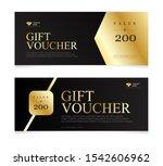 gift voucher template with... | Shutterstock .eps vector #1542606962